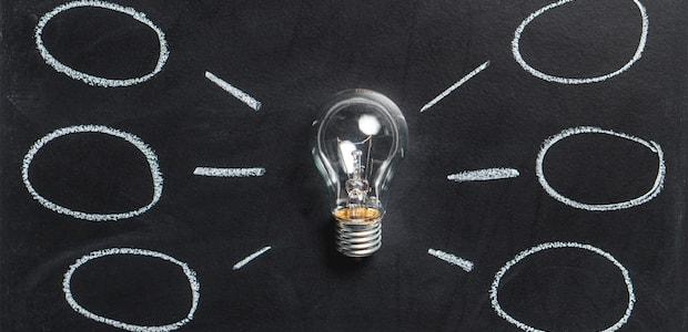 Glühbirne als Ideen-Symbol