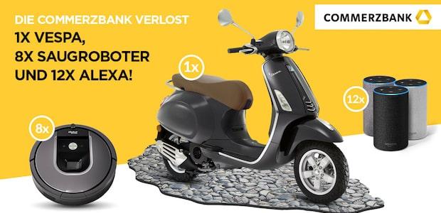 Bild von Commerzbank Wettbewerb: Vespa, Saugroboter oder Amazon Echo gewinnen