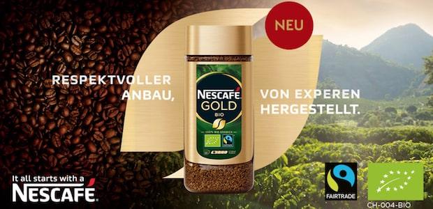 Nescafé Bio Gold gratis testen