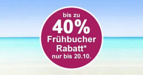 Bis zu 40% Frühbucherrabatt bei FTI