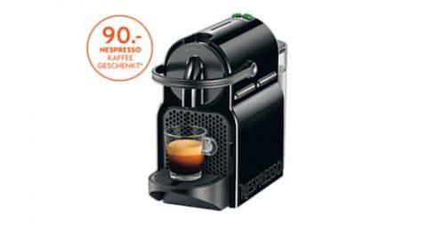 De-Longhi Inissia EN80.B Nespresso Kaffeemaschine + CHF 90 Nespresso Kaffee gratis