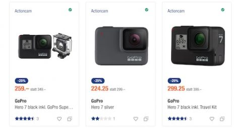 GoPro Hero 7 Actioncams Bestpreis