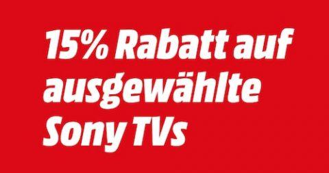 15% Rabatt auf ausgewählte Sony TVs