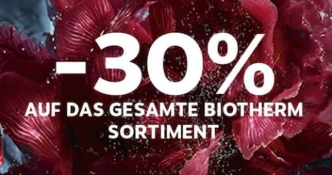 Biotherm Aktion bei Marionnaud