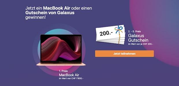 Wettbewerb: MacBook Air oder Galaxus Einkaufsgutschein gewinnen