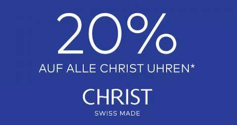20% Rabatt auf alle CHRIST Uhren