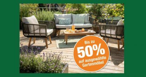 Bis zu 50% Rabatt auf ausgewählte Gartenmöbel bei Do it + Garden