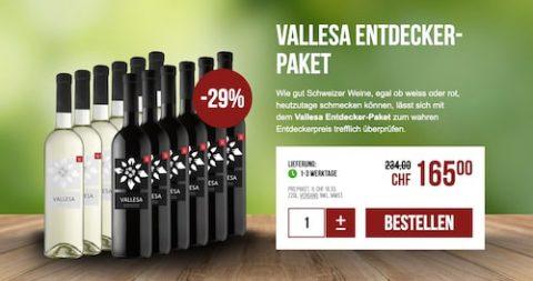 Schweizer Bestseller (Vasella) Weinpaket mit 29% Rabatt