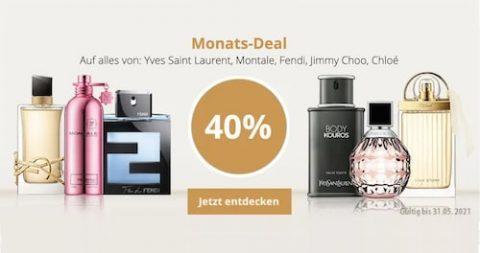 40% Rabatt auf alles von Yves Saint Laurent, Chloé, Fendi, Jimmy Choo und Montale