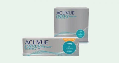 Gratis Probepackung Acuvue Oasys 1-Day Kontaktlinsen