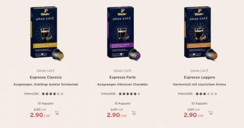 Tchibo Gran Café Espresso-Kapseln für CHF 2.90 statt CHF 3.80