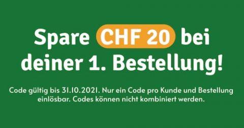CHF 20 Neukunden-Rabatt bei Farmy